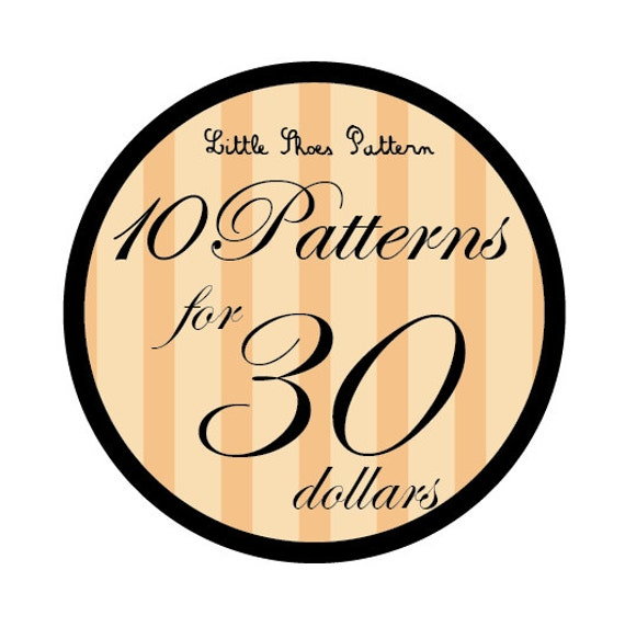 Great Deal - Buy 10 PDF Baby Shoes Pattens for 30 Dollars