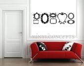 Set of 8 Large Flourish Frames - Vinyl Wall Art