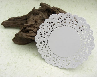"Lace Doilies-Set of 18-Hand Die Cut-4"" by 4""-Colour Choices Available"