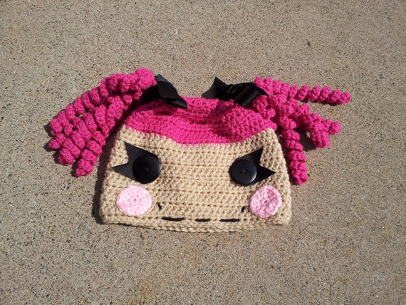Free Crochet Pattern For Lalaloopsy Hat : Items similar to Crochet Lalaloopsy Hat on Etsy