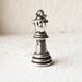 Queen Chess Piece Charm Necklace- Chess Board Charm- 925 Sterling Silver- Ready to Ship- Last Minute Gift- Games