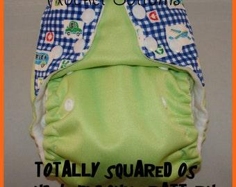 PDF Cloth Diaper Sewing Pattern - Rocket Bottoms Totally Squared OS plus bonus nb/sm