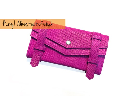 Unique Christmas gifts- Women Wallets- Neon pink