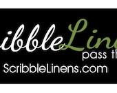 custom listing for Scribble Linens