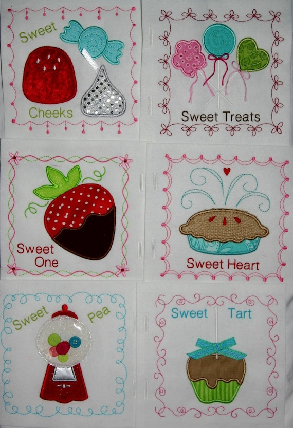 Sweet Shop Quiet Book Applique Pattern For Machine