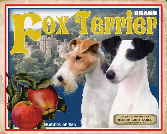 Fox Terrier Small Wooden Crate
