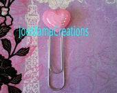 heart bling bookmark / jewelry / photo prop /