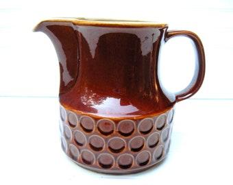Vintage water pitcher mid century modern brown