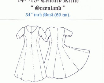 """14th & 15th Century Kirtle """" Greenland"""