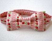 Bow tie pink summer wedding floral stripe red flowers toddler smart formal cute neck tie baby clothing page boy kids clothes valentine love