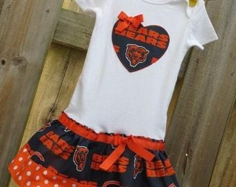 Chicago Bears inspired cheerleader dress