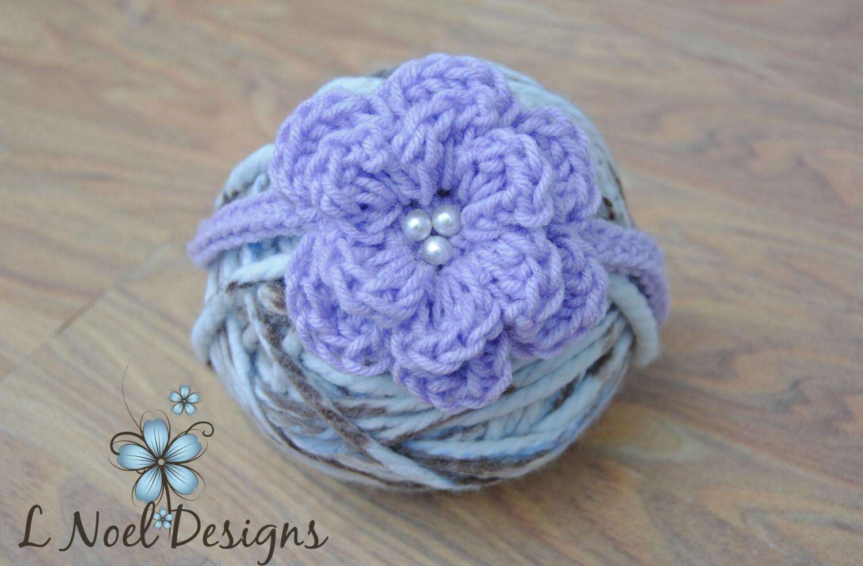 Large Crochet Flower Pattern For Headband : CROCHET PATTERN: The Paisley Headband flower headband flower
