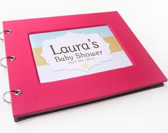 Baby Shower Guest Book - Majestic Magenta