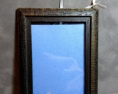 Gray Distressed Wood Frame and with ribbon hanger for ACEO cards