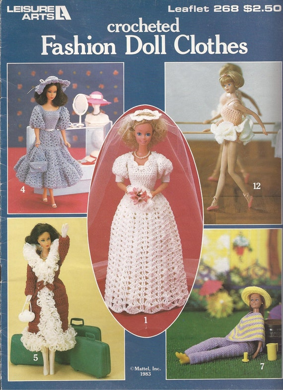 Vintage Barbie Fashion Doll Clothes Crochet Patterns