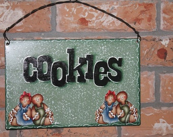 Gingerbread Cookie Metal Sign...Handmade..Kitchen Decor..Country Decor...Collector
