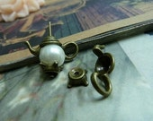 10 Sets 21x7x8mm Antique Bronze Vintage Lovely 3D Opened Kettle Teapot Tea Pots Bead Caps Charms Pendants fc97911