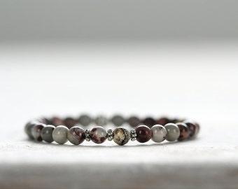 Natural Jasper Bracelet. Rustic, Earthy, Organic Jewelry