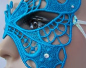 Turquoise Butterfly Mask