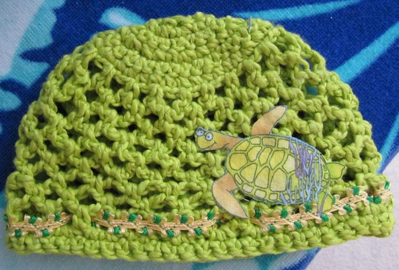 Crochet sea turtle beanie for newborn
