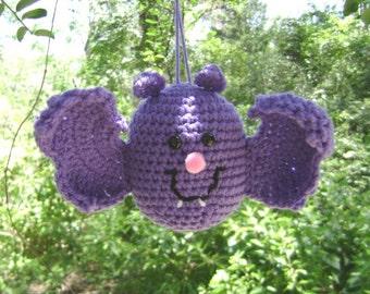 Crochet Halloween Bat Halloween Fall Holiday Decoration Centerpiece Ornament Wall Hanger