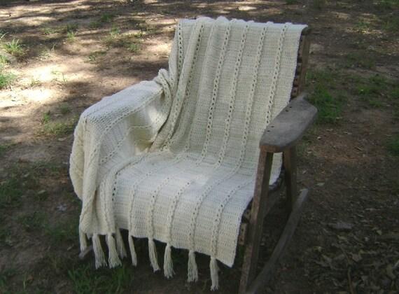 Crochet  Afghan  Throw  Blanket  Lap Blanket  Decoration Aran