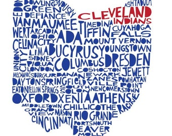 OHIO Cleveland Indians special edition print