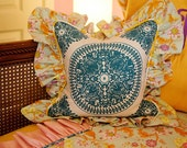 Beautiful Eclectic Claire Ruffled Throw Pillow