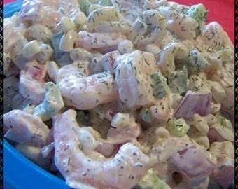 Miss Junes Pasta Seafood Salad Recipe~~~Instant Download