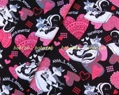2020  - 1 meter SDLP Cotton fabric  - Cartoon - Tom and heart