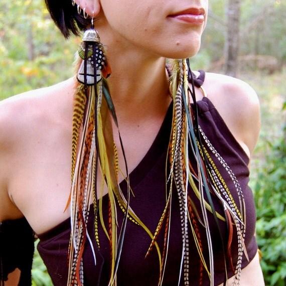WILD MAIDEN Long Feather Earrings SALE