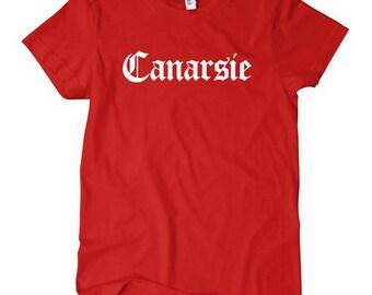 Women's Canarsie Tee - Gothic Brooklyn NYC Ladies Tee - S M L XL 2x - New York City - Canarsie Shirt - 4 Colors