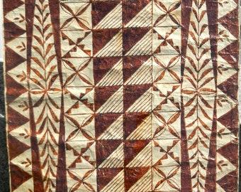 Hawaiian South Seas Vintage Tapa cloth .