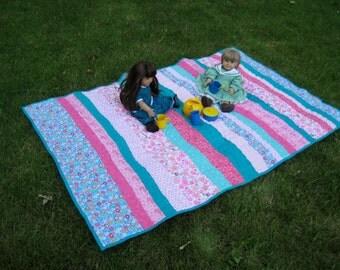 Butterfly Garden Baby Quilt Crib Quilt Play Mat
