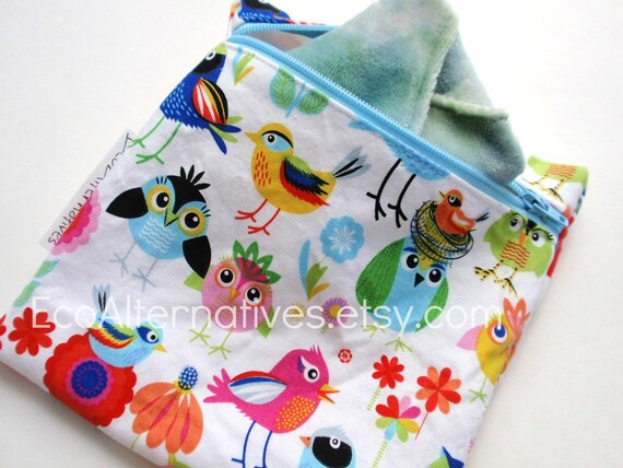 Mini Style Wet bag Colorful birds