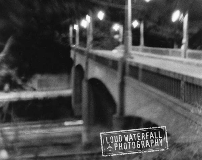 Mulholland Bridge, Lamp Posts, Soft Focus, 8x8 10x10 12x12 20x20 LensBaby Blur Motion Fine Art Photograph