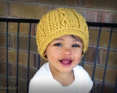 Double Helix Hat CROCHET PATTERN instant download - cable beanie