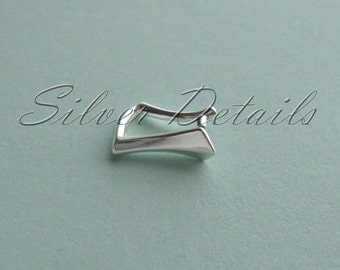 Sterling Silver Pinch Bail for Pendant with Swarovski Crystals model ES50