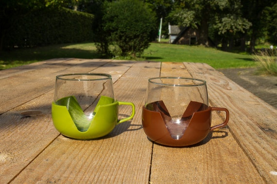 Vintage glass cups - Made in Holland