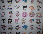 48 Hello Kitty and Friends Round 1 1/4 Sticker Label Birthday Party Favor