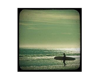Surf Decor, Seaside Photography, Surfer Photography, Sunshine Surfer Beach Decor - Walk on Water
