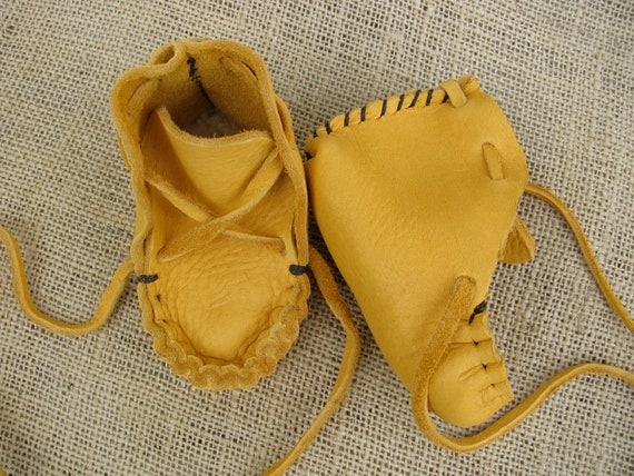 Elk skin Baby Moccasins, Small
