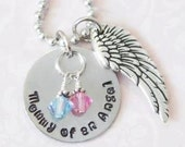 Mommy of an Angel Hand Stamped Pendant