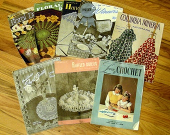 Vintage Crochet and Sewing Pattern Booklets