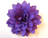 Dark Purple Dahlia - Royal Purple Hair Accessory, Hair Flower, or Flower Pin - HairFair