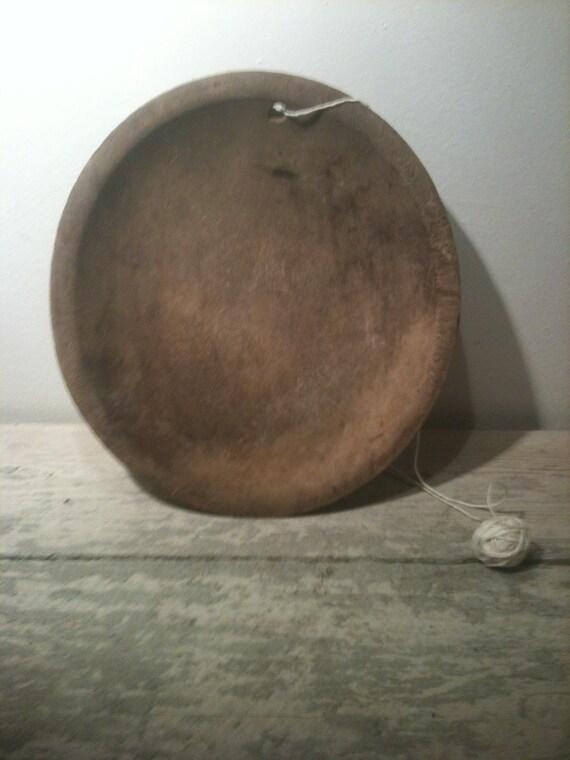 Old Primitive Hand Carved Wooden Bowl