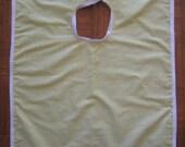 Custom Order for D.Lane - Custom Yellow Gingham Double-Layer Print Bib