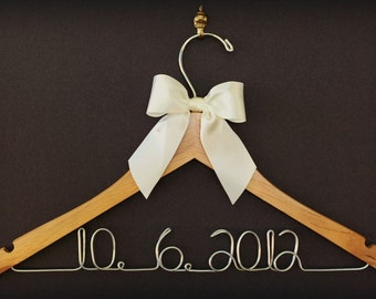 Bridesmaid Gift for Bridal Party - personalized hangers - Wedding Dress - Lace Wedding Dress - Open Back Wedding Dress - Gift for Wife - MOB
