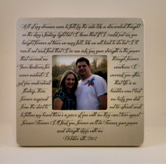Song Lyrics Wedding Vows Poem Quotation By PersonalizedFrames1