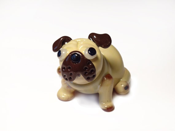 Glass Fawn Pug - Sculpture Number 16